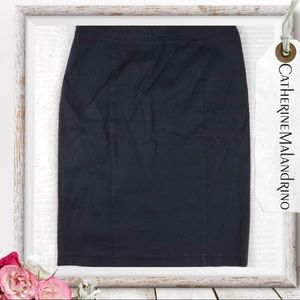 Catherine Malandrino Black Pencil Skirt Size 12